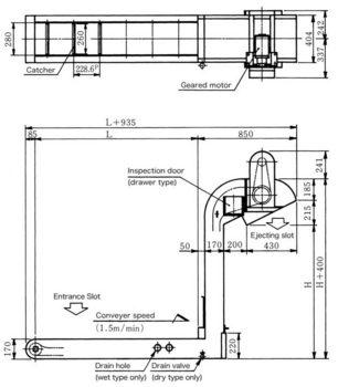 CB conveyer/Dimensions